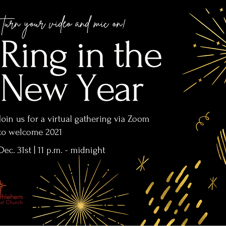 Ring in the New Year on ZOOM