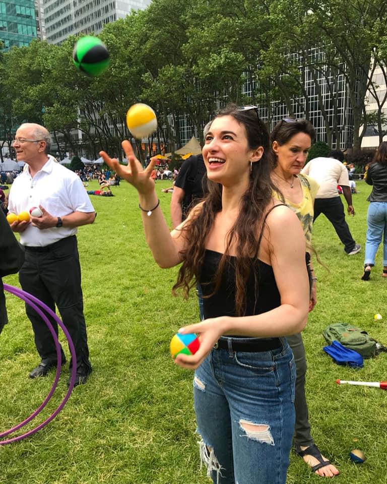 Juggling in Bryant Park