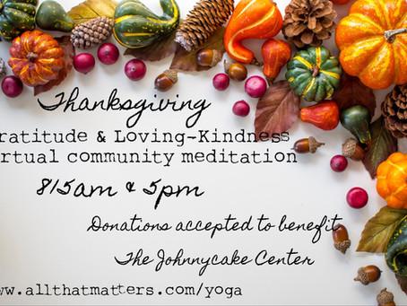 Thanksgiving community meditation