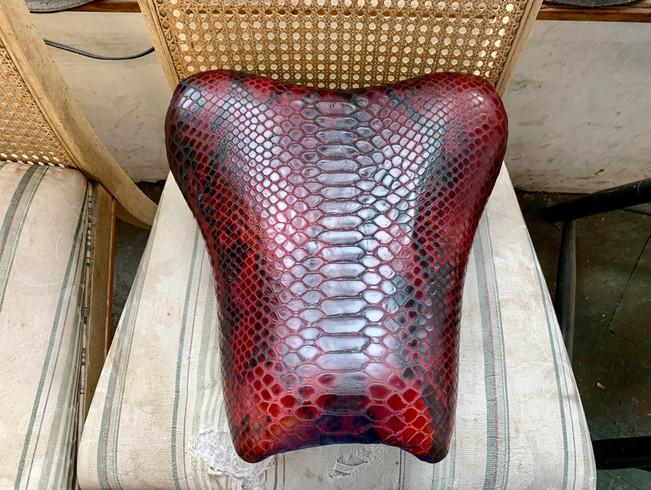Custom Snake Skin Mototrcycle Seat