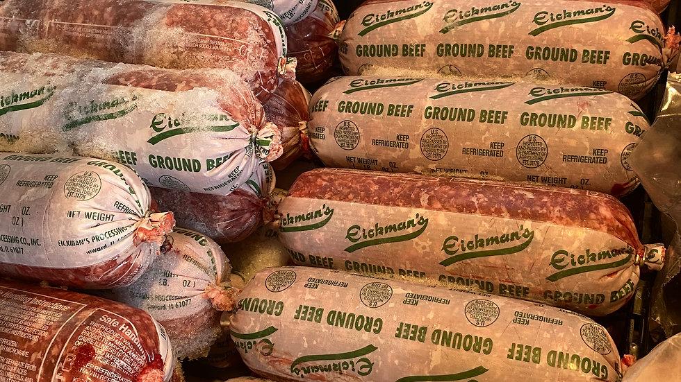 Ground Beef standard clip packaging