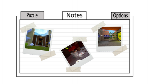 Mockup of a system where players can take picture of clues
