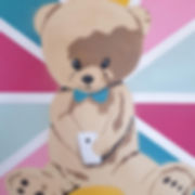social teddybear 2018 50x70 cm spray ste