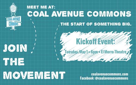Coal Avenue Commons Kick Off Event Invit