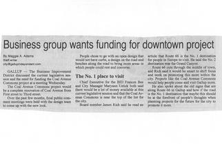 Business Group wants funding for Coal Av