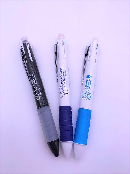 Pokemon 鉛芯筆連四色筆