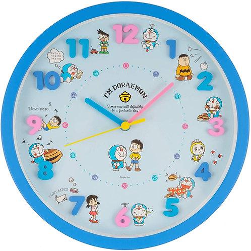 哆啦A夢 連續秒針圓形掛鐘
