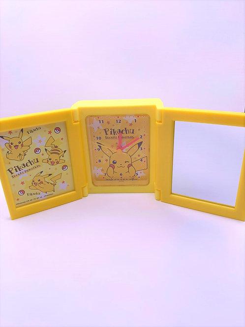Pokemon 鬧鐘 相架 鏡 三合一