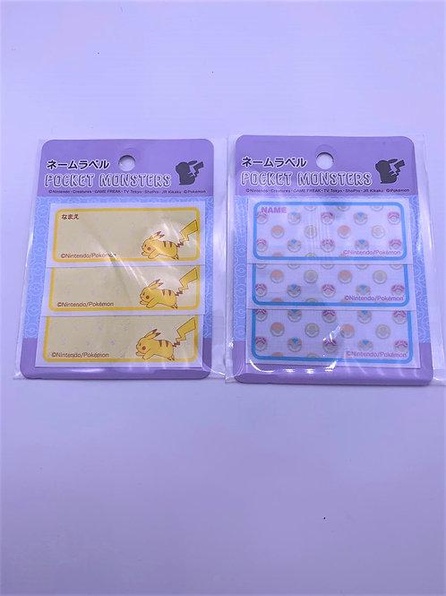 Pokemon 棉質名貼