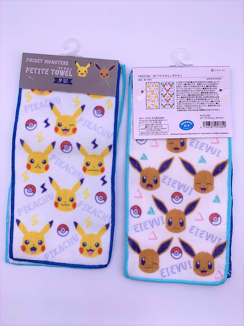 Pokemon 小毛巾兩條裝
