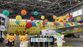 日本天馬航空聯乘精靈寶可夢推出比卡超彩繪客機,及一系列相關設施與商品