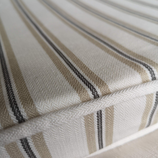 Striped Matched Bench Cushion