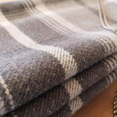 Wool Stripe Stacked Roman Blind