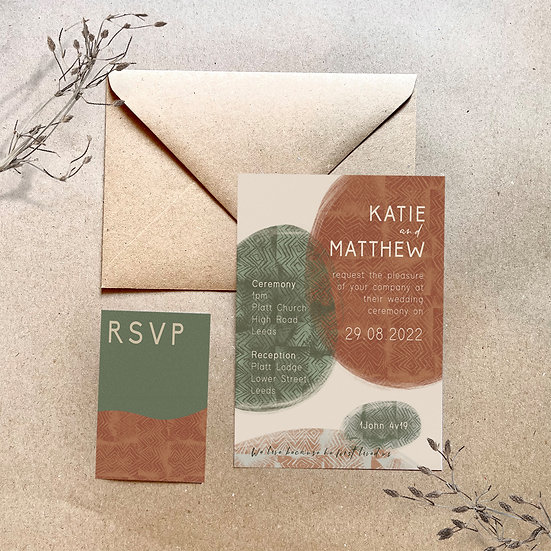 Wedding Invitation - Rustic Print