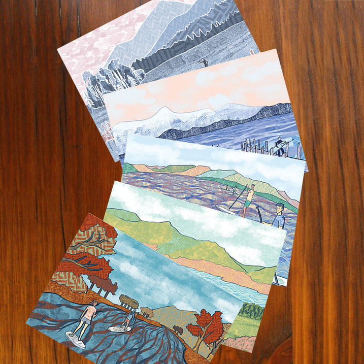 Paddle boarding cards