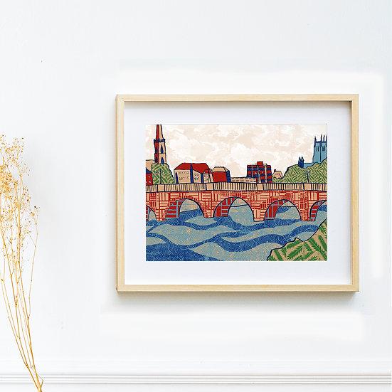 Art Print - Worcester City