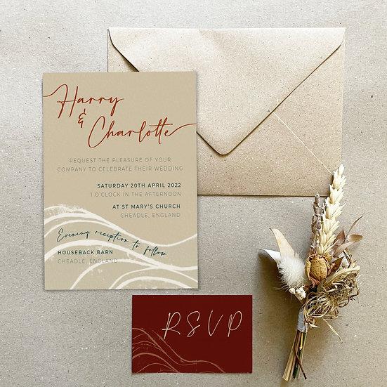 Wedding Invitation - Wave