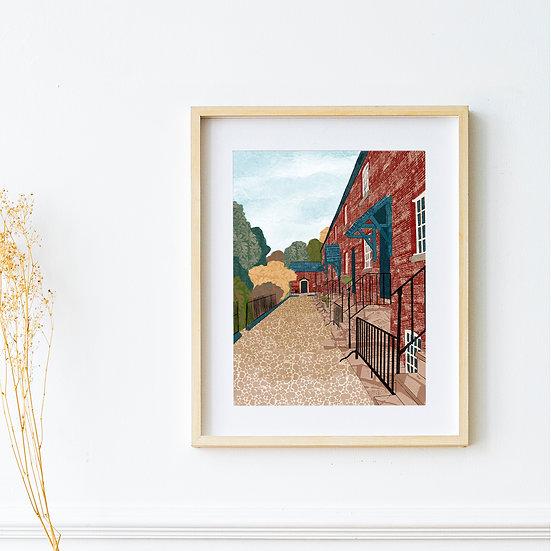 Art Print - Styal Cottages