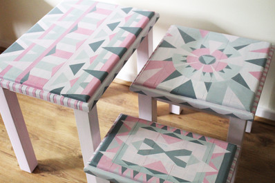 Hand painted coffee tables