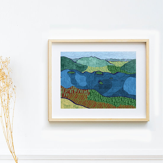 Art Print - View from Catbells, The Lake District
