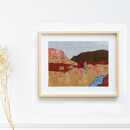 Art Print - Slippery Stones, The Peak District