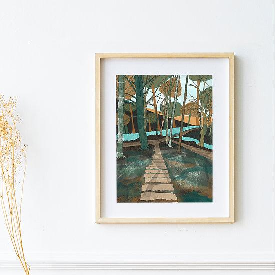 Art Print - 39 Steps, Styal Woods