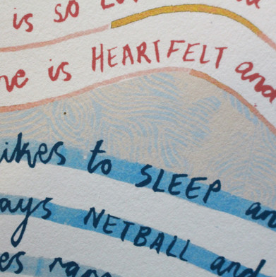 Personalised Poem (Close up)