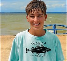 Cape Cod Boy on Beach
