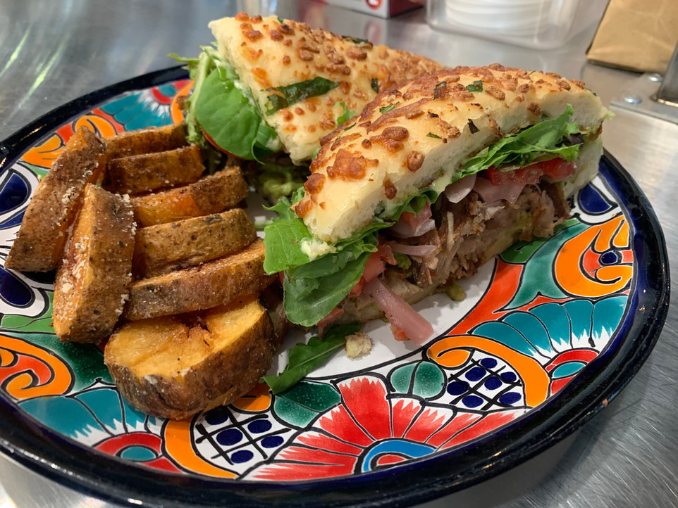 Carnitas Torta (wirh house bread)