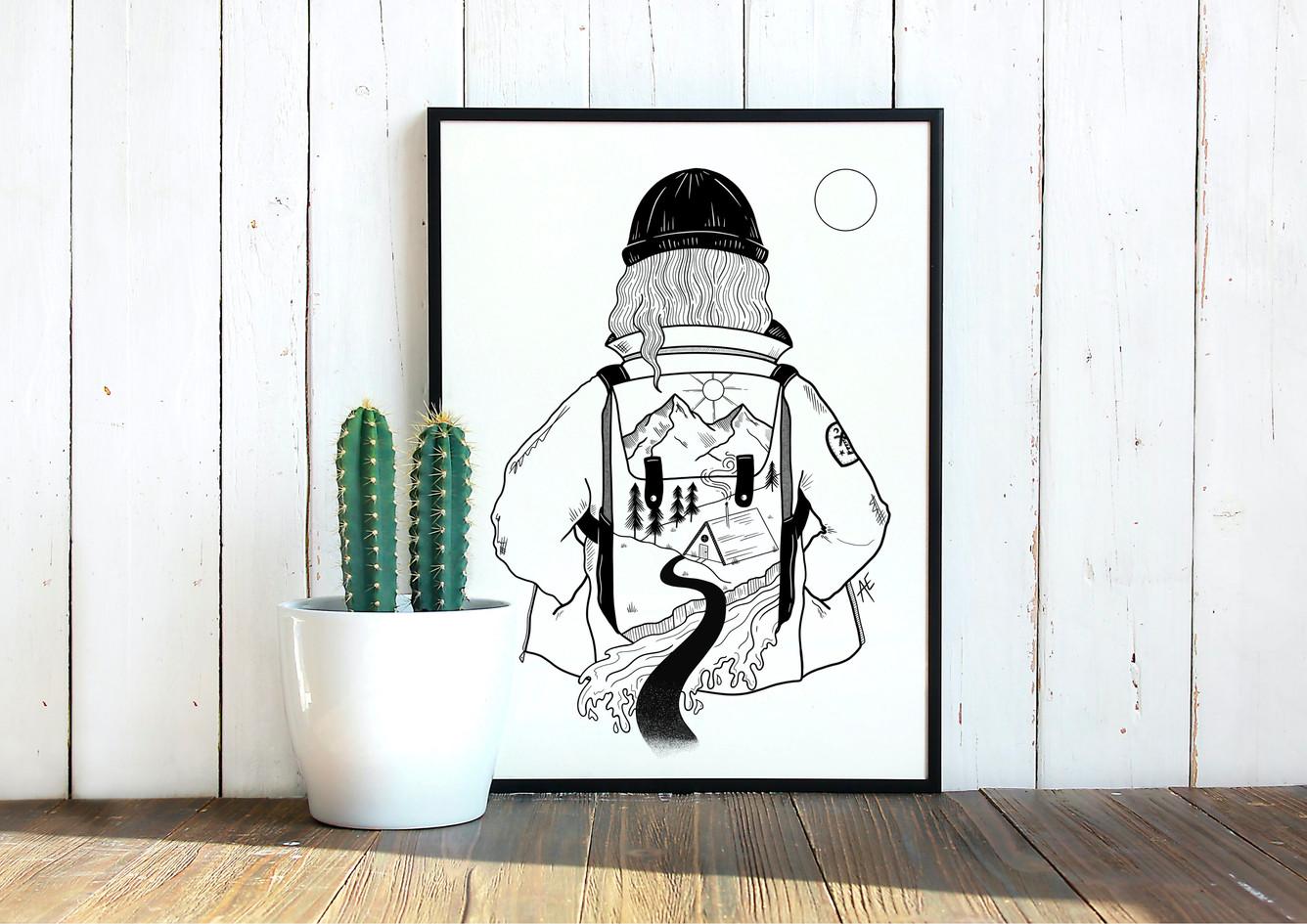 Backpacker framed.jpg
