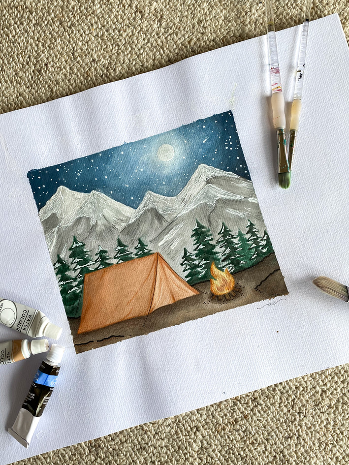 CAMPING PAINTING
