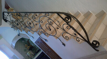 felicelli métallerie   fer forgé rampe escalier  fait main