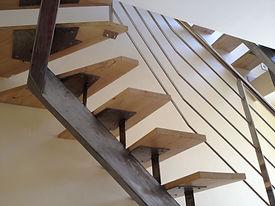 felicelli métallerie forge fer inox escalier bois