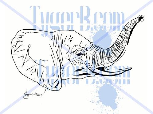 """Elephant Profile"" ©TBM2019 TygerB.com"