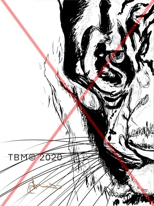 """Love Line"" (BW) ©TBM2019 TygerB.com"