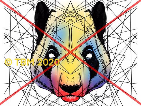 """""""Retro Panda"""" ©TBM2020 TygerB.com"""