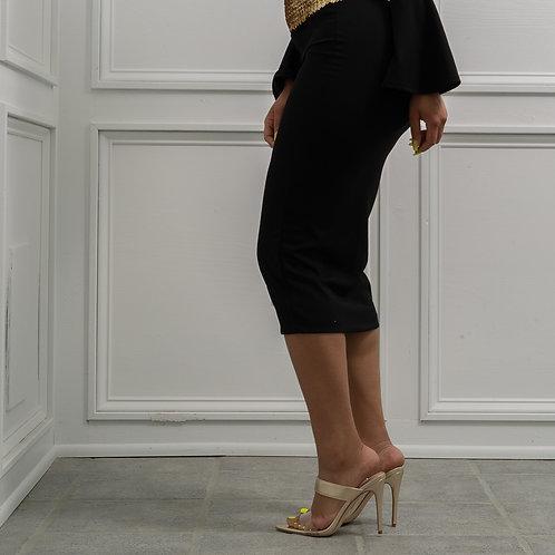Gold Heel Sandal