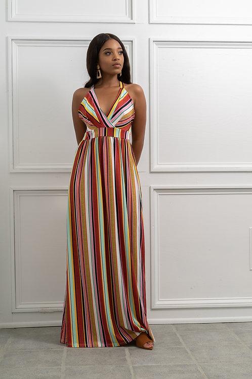 Rainbow Striped Dress