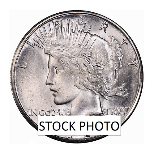 "1923S Silver Peace Dollar - Uncirculated ""Raw"""