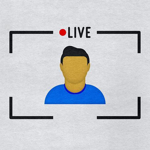 live-stream-man-icon-on-paper-textured-b