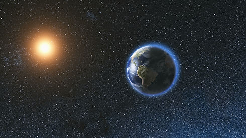 space-view-on-planet-earth-and-sun-in-universe-9D7QZBT.jpg