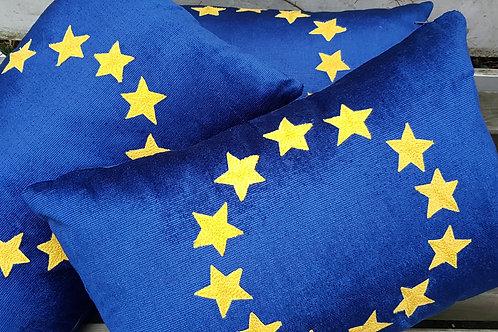 Reflex Blue Corduroy European Union Flag Cushion