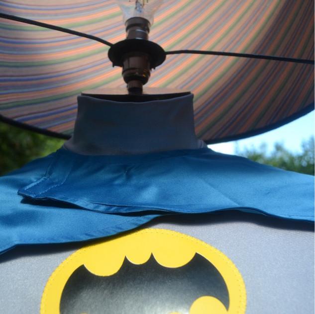 Batman up close with bespoke shade
