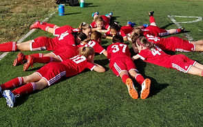 U11 Soccer preparing for their match Sep