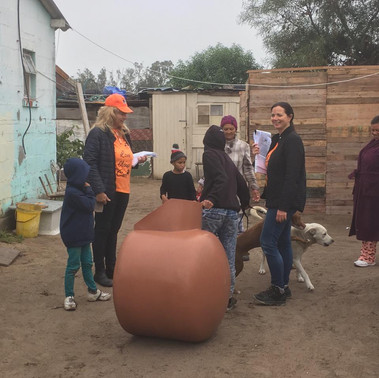 Dog houses make a difference for Mandela Day