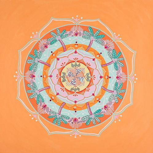 Orange Mandala Print