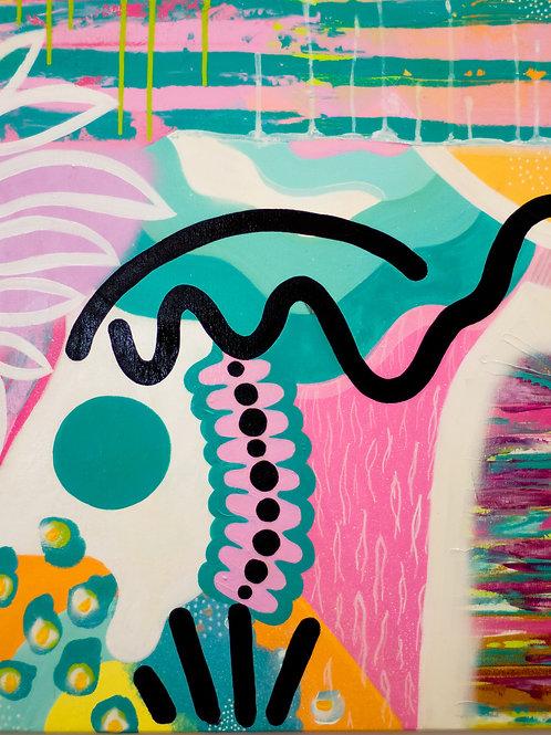 'Indécis' Original Canvas