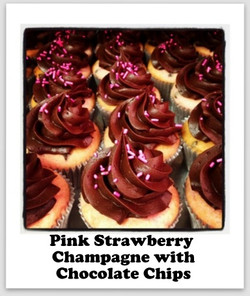 Pink Champagne with Chocolate Chips