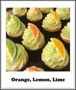 orange, lemon, lime