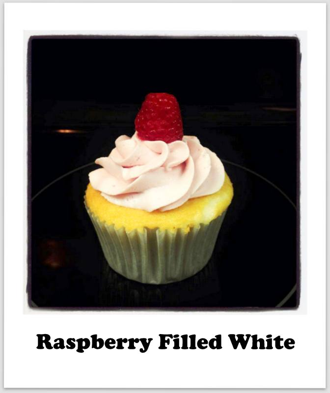 Raspberry Filled White